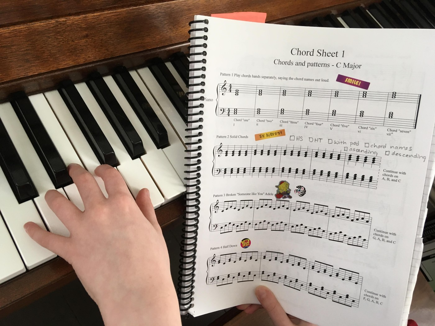 6 steps to Improvising and Composing left hand piano [Printables